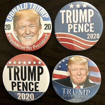 Donald Trump 2020 Variety Pack Buttons - Set of four (4) Different Buttons