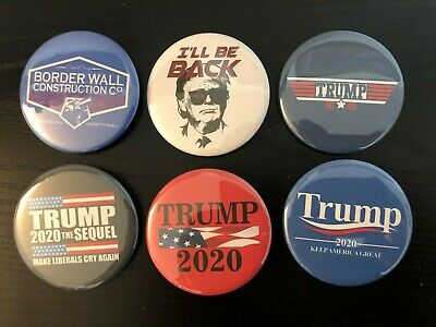 Donald Trump 2020 Variety Pack Buttons - Set of six (6) Different Buttons