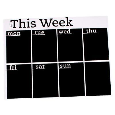 This Week Wall Sticker Decal Blackboard Home Office Memo Removable JH