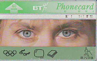 British TELECOM  Phonecard 40 units RNIB  350F