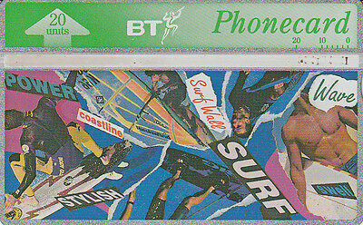 British TELECOM  Phonecard 20 units Surf 347L