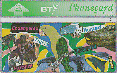 British TELECOM  Phonecard 20 units Habitat protected 347K