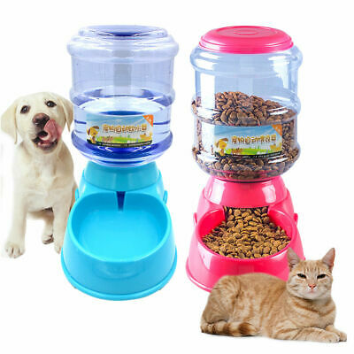 3.5L Automatic Pet Dog Cat Water Bowl Food Feeder Bottle Dispenser Plastic Tool