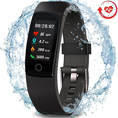 MorePro Waterproof Health Tracker, Fitness Tracker Color Screen Sport Smart with