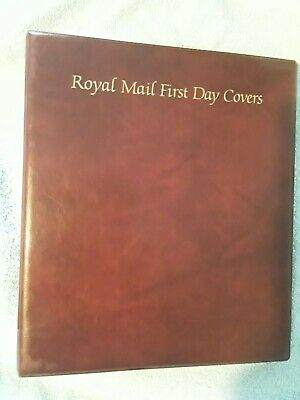 Royal Mail First Day Cover Album with 20 Sleeves +1 large sleeve Burgundy VGC