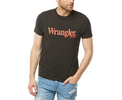 Wrangler Men's Lights Logo Tee - Vintage Black