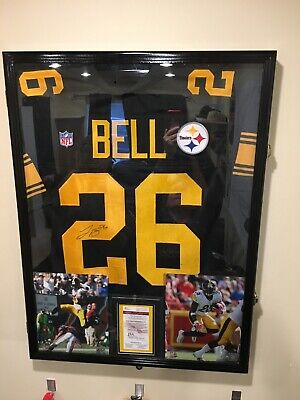 e835f6f514d Leveon Bell Signed Steelers Jersey - COLOR RUSH - Lockable Frame & More!