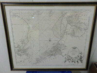 NAUTICAL MAP showing NORTH SEA, with the coastline of NORFOLK and HOLLAND