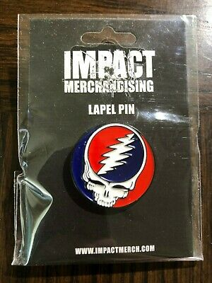 Grateful Dead Steal Your Face Skull Badge Lapel Pin Gift Officially Licensed