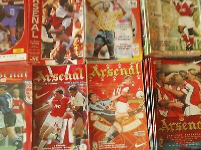 Arsenal Home Programmes 1990'S