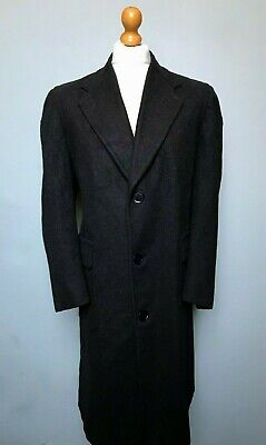 Vintage 1930's 1940's grey single breasted overcoat size 42 44