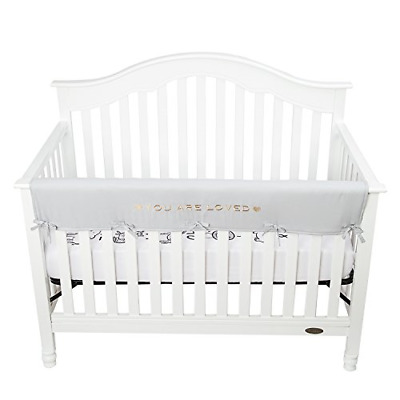 TILLYOU Personalized Padded Baby Crib Rail Cover Protector Safe Teething Guard -