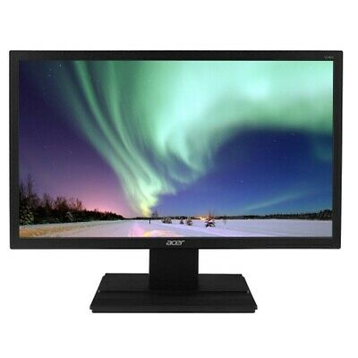 Refurb 23.6 Acer V246HQL DVI/VGA 1080p Widescreen LED LCD Monitor (Black)