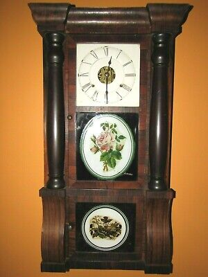 Antique Seth Thomas No.18 Triple Decker Ogee Clock Weights Driven, 8-Day