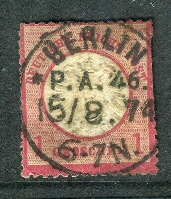 GERMANY; 1872 early classic Shield type used 1g. fine Postmark