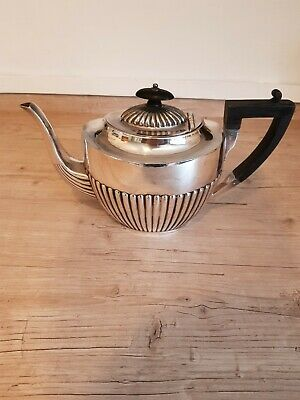 Good Quality Victorian Silver Plated Tea Pot - Atkin Brothers