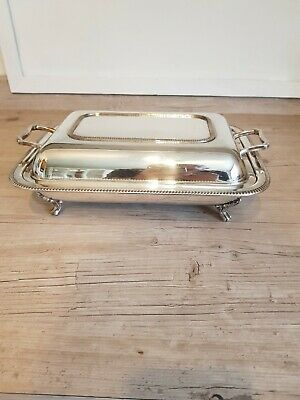 Good Silver Plated Lidded Serving Dish With Pyrex Liner, Henry Tatton Edinburgh