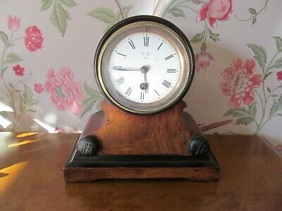 Antique Wooden mantel clock (possibly French)