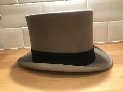Antique Grey Felt Top Hat by Scott & Co C1920 🎩 Size 7 1/8