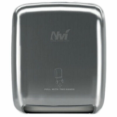 NVI Stainless Steel Recessed Manual Hands Free Towel Dispenser D68012-C