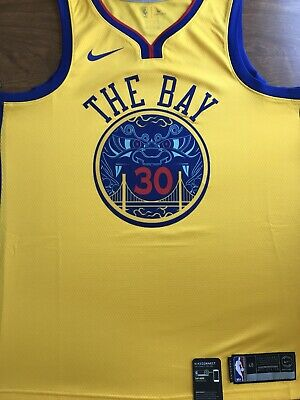 """10107beea63 NWT Nike Stephen Curry Warriors Authentic Jersey """"Chinese New Year"""" Size L"""