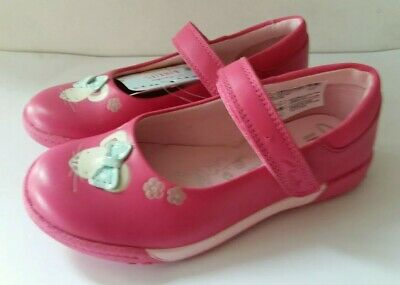 Brand New Clarks Girls Pink Binkies Leather Shoes size UK 7-10.5F.G