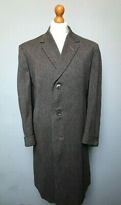 Vintage 1940's  grey  single breasted overcoat size 44