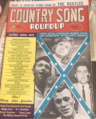 Vtg COUNTRY SONG ROUNDUP AUG 1964 THE BEATLES COMMENTS, EDDY ARNOLD