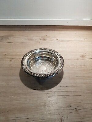 Pretty Vintage Silver Plated on Copper Bottle Coaster