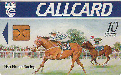 Irlande/Eire  callcard  Irish horse racing 10units