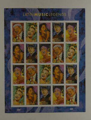 Us Scott 4497-4501 Pane Of 20 Latin Music Legends Forever Stamps Mnh