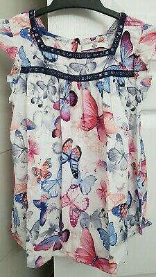 Girls Marks And Spencer M&S Summer Butterfly Print Top Age 9-10 Years