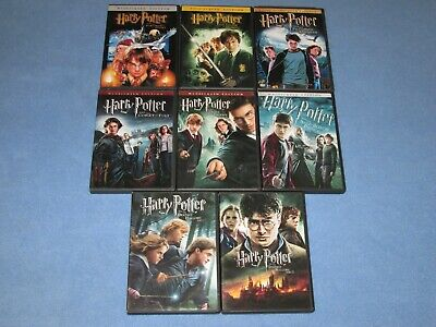 8 DVD Lot: HARRY POTTER Complete COLLECTION! (ALL 8 Films)