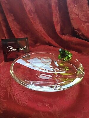 FLAWLESS Stunning BACCARAT France Art Glass RAINETTE FROG Crystal DISH BOWL