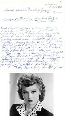 Rare! Lucille Ball 1978  Personal 5 Page Love Letter To Gary Morton Handwritten