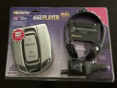 Memorex Compact Disc Player Car Kit Walkman Cd Cassette Adaptor