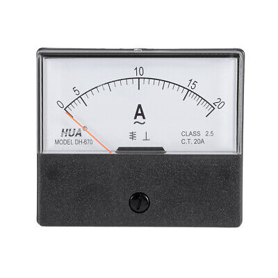 AC 0-20A Analog Panel Ammeter Gauge Ampere Current Meter DH-670