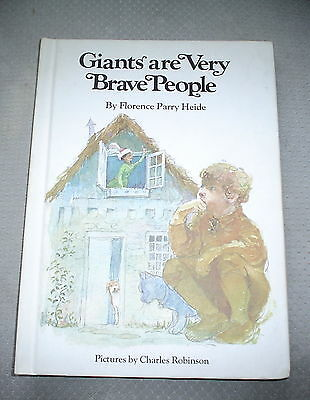 Giants Are Very Brave People Hardcover Children's Book 1970