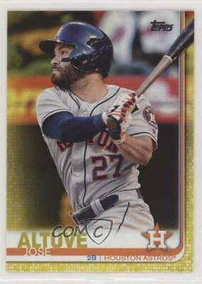 2019 Topps Walgreens Yellow #178 Jose Altuve Houston Astros Baseball Card