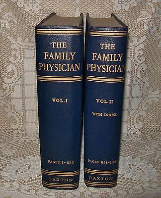 VINTAGE 1955 ILLUSTRATED 'THE FAMILY PHYSICIAN' VOL. I & II (2 lge books) CAXTON