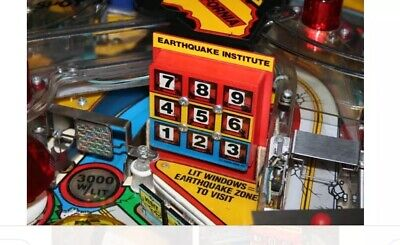 Williams Earthshaker Pinball Sinking Instituite Prototype Mod !!