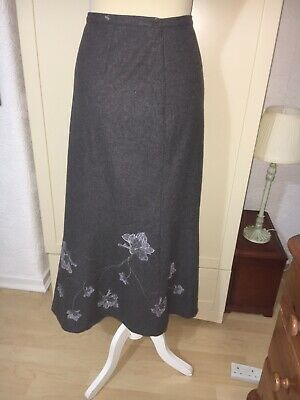 Laura Ashley Wool Mix Skirt 14 Exc Cond Work Casual Hardly Used Vgc Gypsy Boho