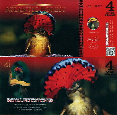 ATLANTIC FOREST - 4 aves dollars 2015 FDS UNC