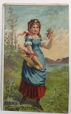 Ayers Cherry Pectoral Advertising Trade Card Lowell MA Quack Medicine Cure