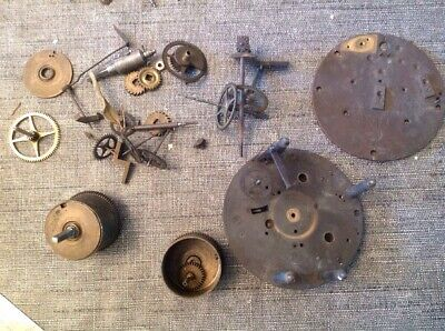 Antique Barrel Clock Movements In Parts Incl Visible Escape Type Untested