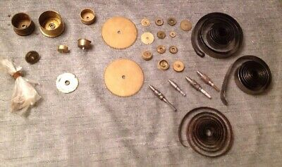Antique Brass Clock Mainspring Barrels Drive Wheel Cogs Clockmakers Parts ref 23