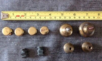Antique Vintage Brass Drawer Or Cupboard Handles Set 2, 2 Pairs 2 Singles