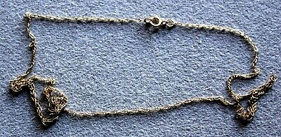 Beautiful Genuine 9 Ct  Solid Yellow Gold  Necklace Very Dainty No Scrap
