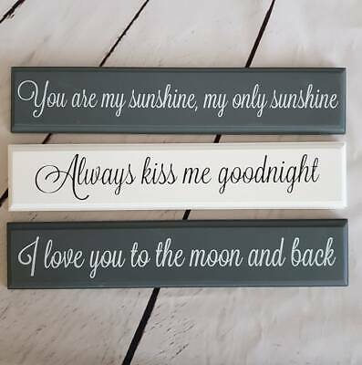 Assorted You Are my Sunshine Always Kiss Me Goodnight Moon And Back Wall Plaque