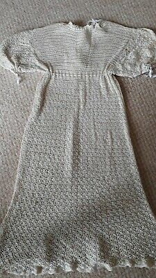 Vintage Ivory/Cream crocheted  Baby Christening Gown 1950s